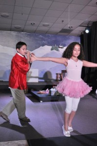 Richie and Aleena dance the Reed Flute dance