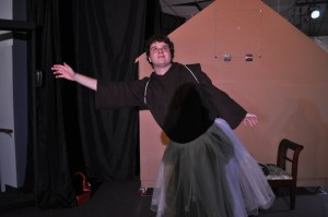 Father Virgil in his version of the Sugar Plum Fairy